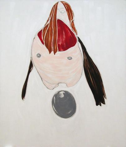 Self-Portrait Laying Egg
