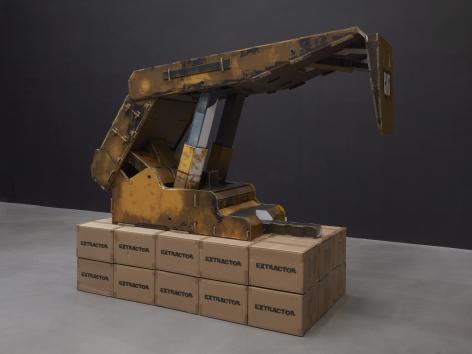 Simon Denny, Caterpillar Inc. semi-autonomous longwall coal mining roof support system cardboard display
