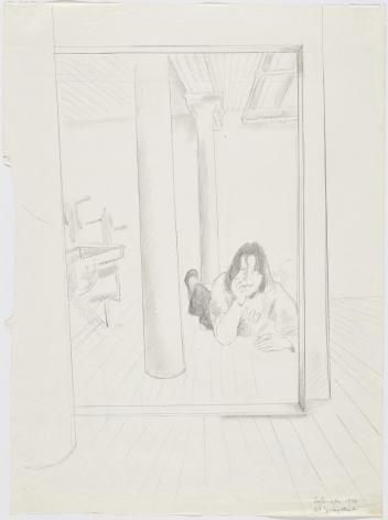 Loft-Life 1974 Pencil on paper