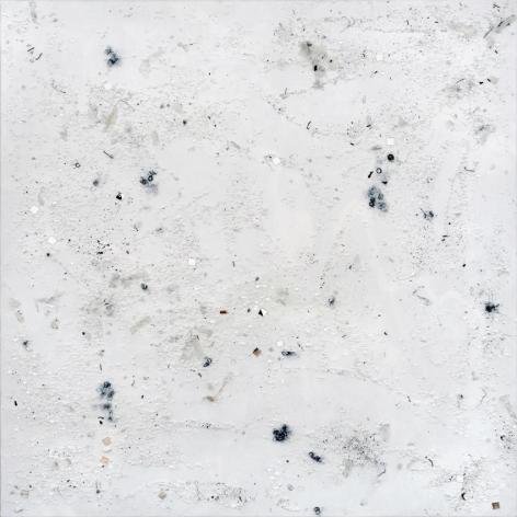 Untitled 2010 Swarovski crystals, rubbish, acrylic bonding agent, and acrylic on canvas