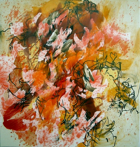 Untitled 2003 Acrylic, oil, charcoal and oil stick on canvas