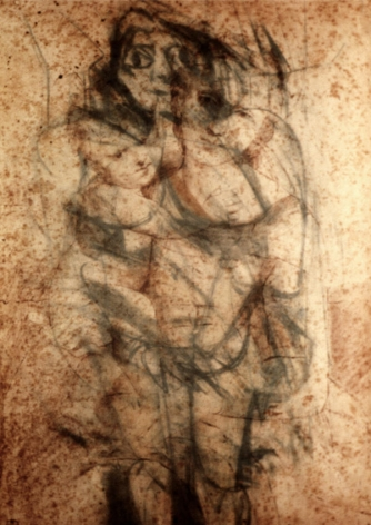 Untitled (de Kooning/Raphael Drawing) #3