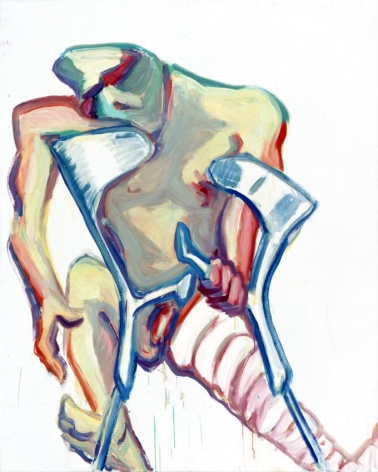 Untitled (Crutches, Broken Leg)