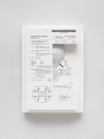 Simon Denny, Document Relief 24 (Amazon Delivery Drone patent)