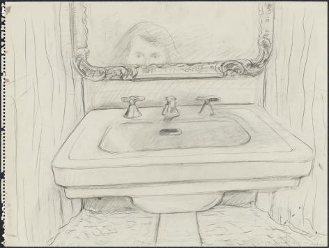 Sink 1969 Pencil on paper
