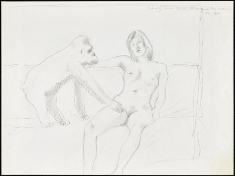 """Entwurf für ein Bild """"Alice and her man"""""""