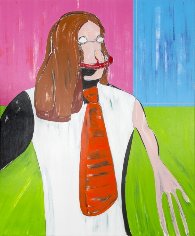 Nicola Tyson, Self-Portrait: Red Tie