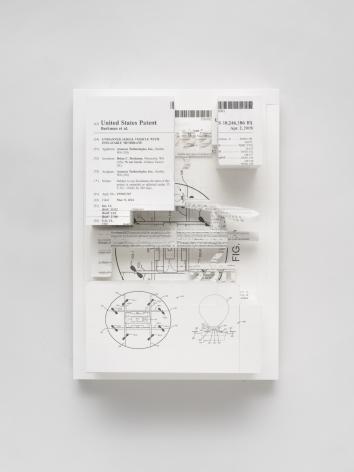 Simon Denny, Document Relief 26(Amazon Delivery Drone patent)