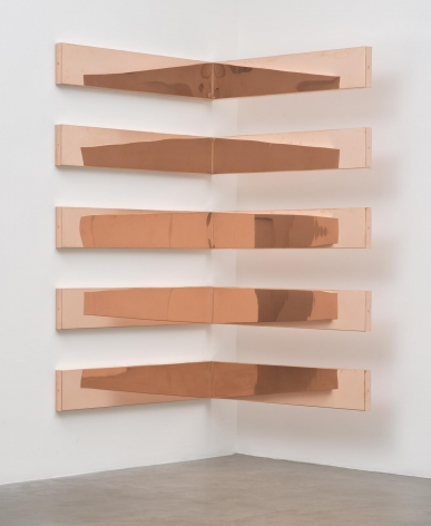"""Copper Surrogate (60"""" x 120"""" 48 ounce C11000 Copper Alloy, 90o Bend, 60"""" Bisection/5 Sections: April 12–17, 2017/DEINSTALL*, New York, New York)"""