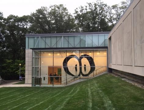 Foster Mural: Joyce Pensato, Rose Art Museum, Brandeis University, 2015-2016  Installation view
