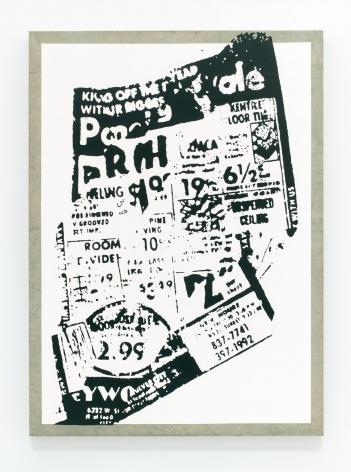 Untitled (Blown-Up Newspaper Print)
