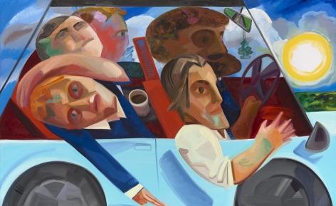 Carpool 2016 Oil on canvas