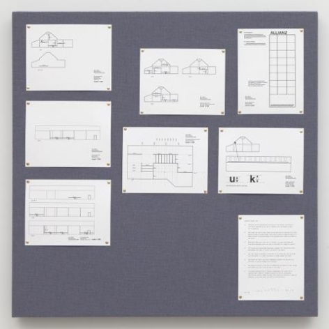 Liam Gillick Pinboard Project (Blue Gray)