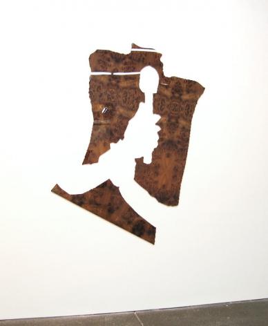 Untitled 2008 2 elements: burled Carpathian Elm wood and diamond acrylic plastic