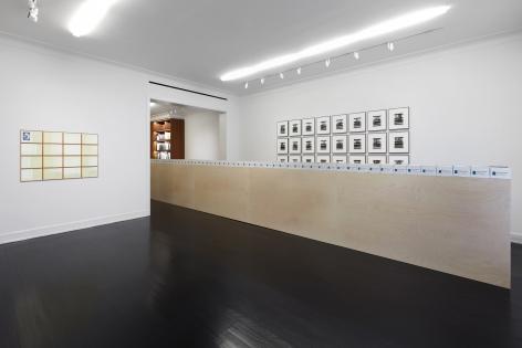 Hanne Darboven, Wade Guyton, Allan McCollum, Stephen Prina, Samson Young, Installation view