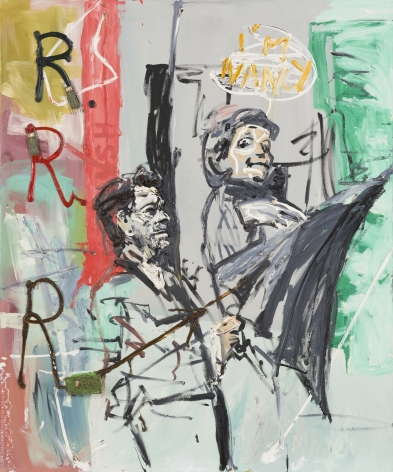 Martin Kippenberger, R.R.R. (Ronald Reagans Regenschirm) (Serie: Fiffen, Faufen, und Ferfaufen)