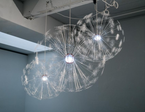 Jorge Pardo Untitled (set of 3 dandelion lamps)