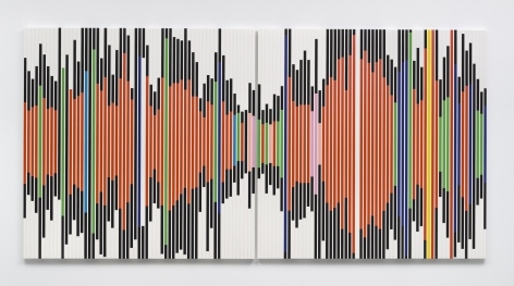 So in a sense it's abstract as no painting will ever be. [Sound Graph 3], 2017