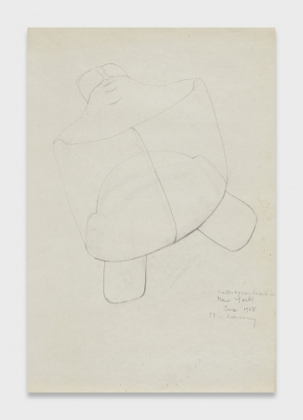 Maria Lassnig, Selbsportrait in New York