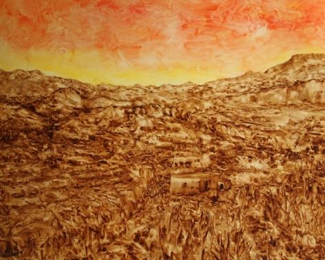 Juan Antonio Guirado, Sunset over the Farmhouse, 2000