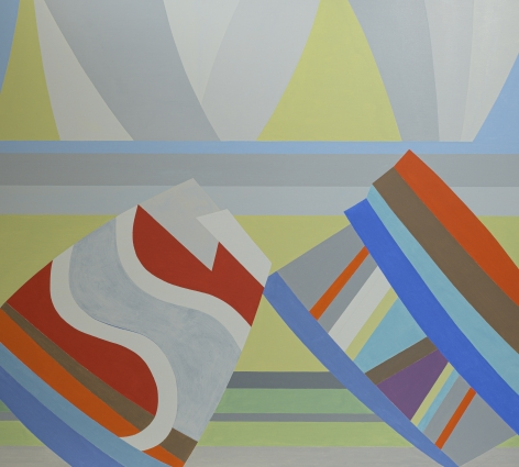 Mahler, 1992  Oil on canvas   58 x 64 inches