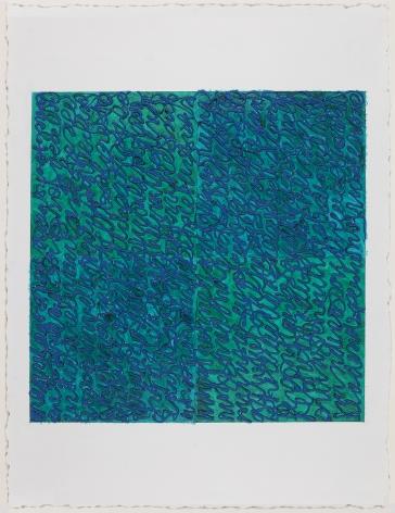Louise P. Sloane, Blues Turquoise, 2017
