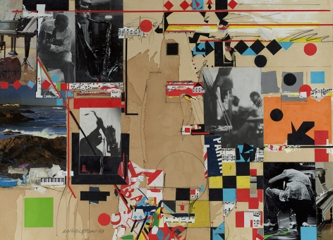 Impromptu, 1993, Mixed media collage