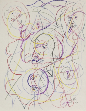Untitled - DP-XV,1993, Pastel and colored pencil on paper