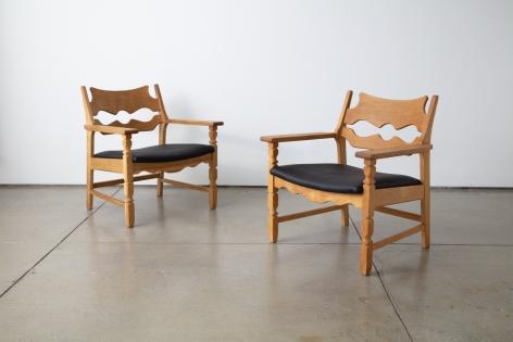 Henning Kjaernulf Pair of Razor Blade Chairs