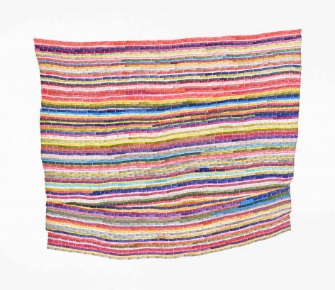 Carly Glovinski, Pink Multi Rag Rug, 2017