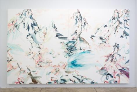 Elisa Johns  Palisade Basin, 2017  Oil on canvas  96h x 156w in 243.84h x 396.24w cm