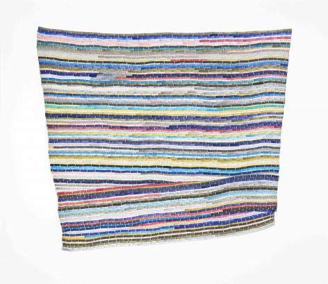 Carly Glovinski, The Second Blue Multi Rag Rug, 2017