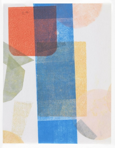 Austin Thomas, Red Square Blue Stripe, 2016