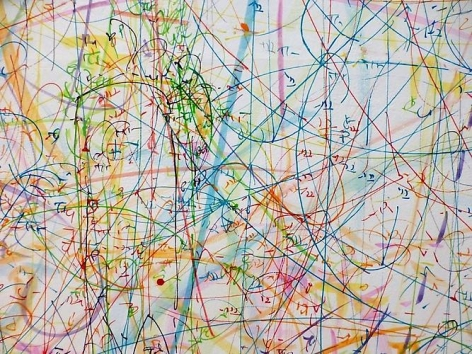 blow up 184 - subatomic decay patterns (2013) (detail)