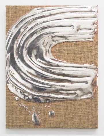 Nancy Lorenz, Palladium on Burlap, 2018