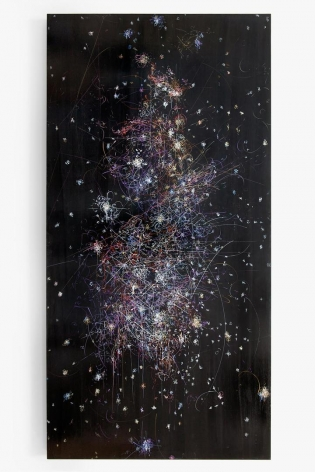 Kysa Johnson, blow up 283 - the long goodbye - subatomic decay patterns and the orion nebula, 2016