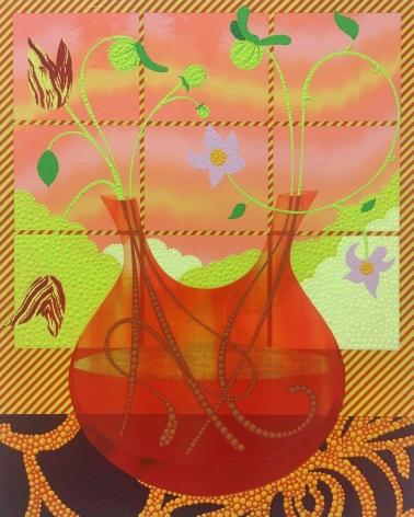 Eric Hibit, Orange Bud Vase, 2020