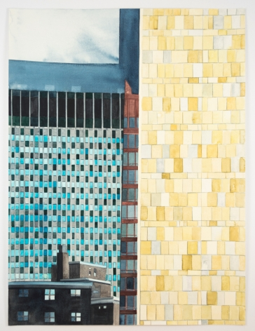 Amy Park, Collaged Le Corbusier, NYC, 2017
