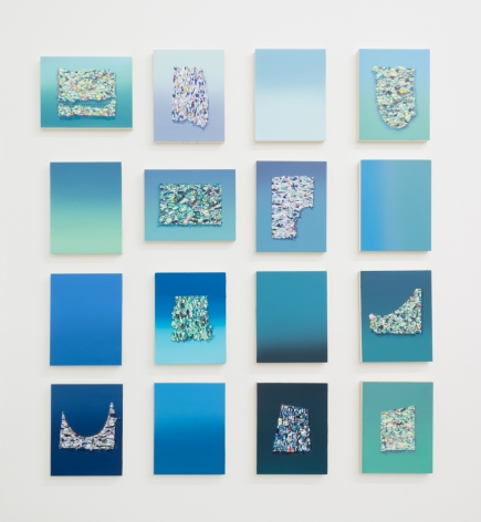 Adriana Farmiga, Foam Segments (Grid of 16), 2020