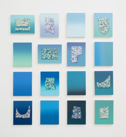 Adriana Farmiga, Foam Segments (Grid of 16), 2020