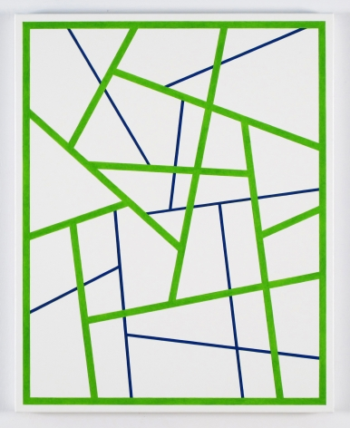Cary Smith, Straight Lines #7 (bright green-blue), 2015