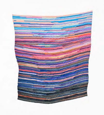 Carly Glovinski, Footbridge Sunrise Rag Rug, 2017