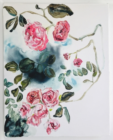 Elisa Johns  Wild Roses, 2019  Oil on canvas  20h x 16w in (50.80h x 40.64w cm)