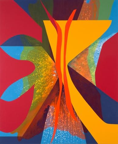 Carrie Moyer, Yes Rays (aka Sisters' Stamen), 2013