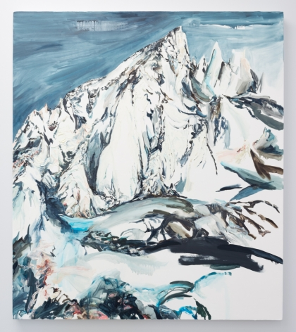 Elisa Johns  Feather Pass, 2019  Oil on canvas  64h x 56w in (162.56h x 142.24w cm)