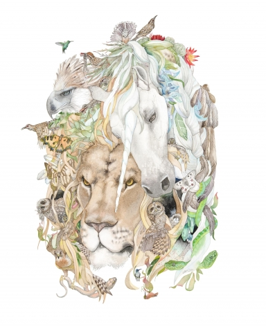 Laura Ball, Barbary Lion Mandala, 2017