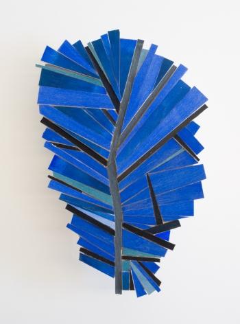Ruby Palmer, Bright Blue Leaf, 2021