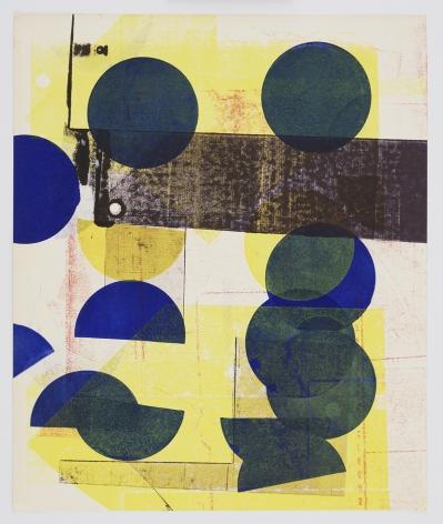 Austin Thomas, Blue Circles Yellow City, 2020