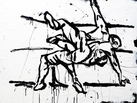 Twist (2012) Enamel on canvas 36h x 48w in