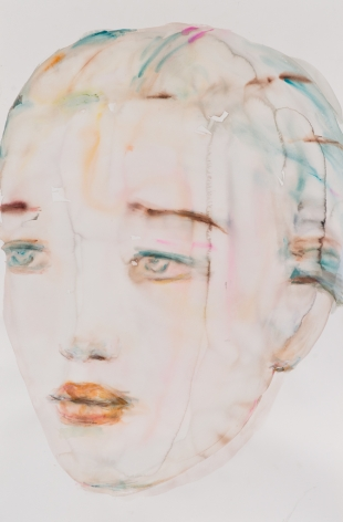 Kim McCarty, Untitled (Cyan), 2015